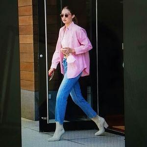 RALPH LAUREN - classic pink logo oxford shirt